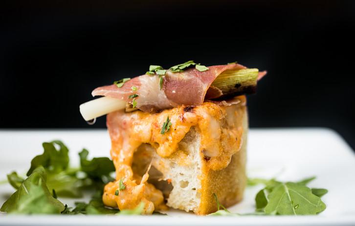 Pimento & Country Ham Bruschetta