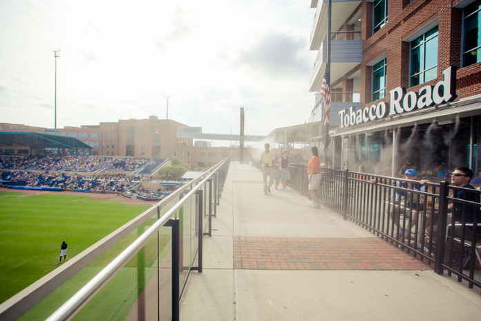 View of the Durham Bulls Athletic Park
