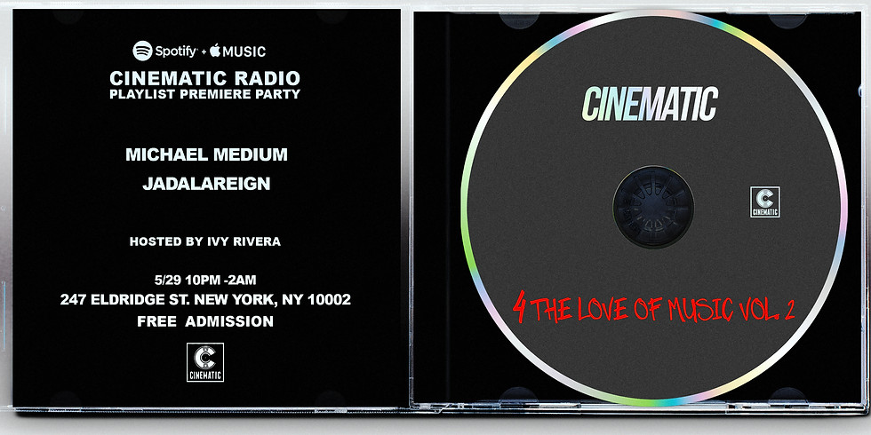 Cinematic Radio Playlist Party Premiere Party