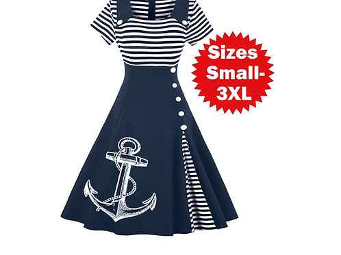 Nautical Anchor Dress