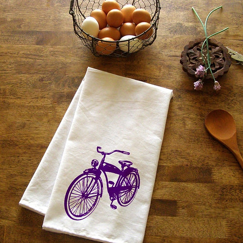 Vintage Bike Kitchen Towel