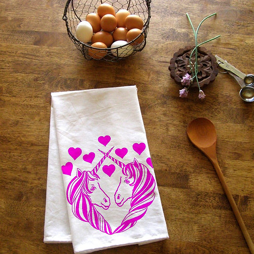 Unicorn Pair Kitchen Towel