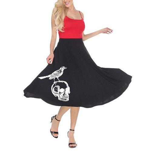Raven Skull Swing Skirt