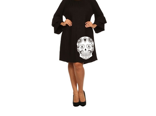Sugar Skull Bell Dress