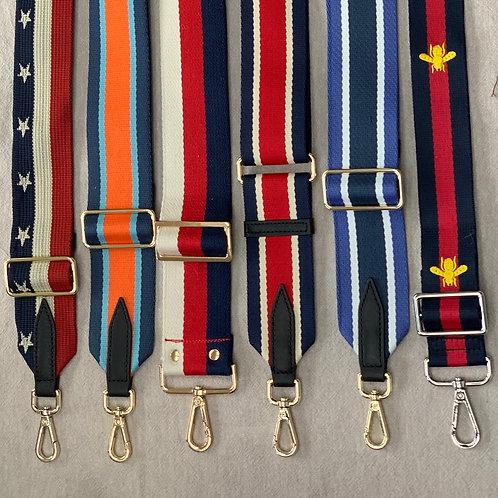 Adjustable bag strap - Blues & reds