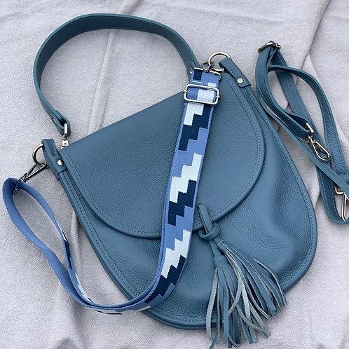Leather saddle bag