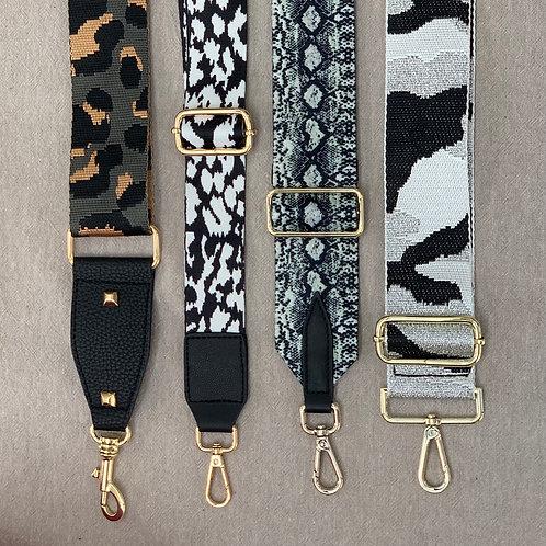 Adjustable bag straps - Black & gold