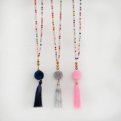 PomPom tassel necklace