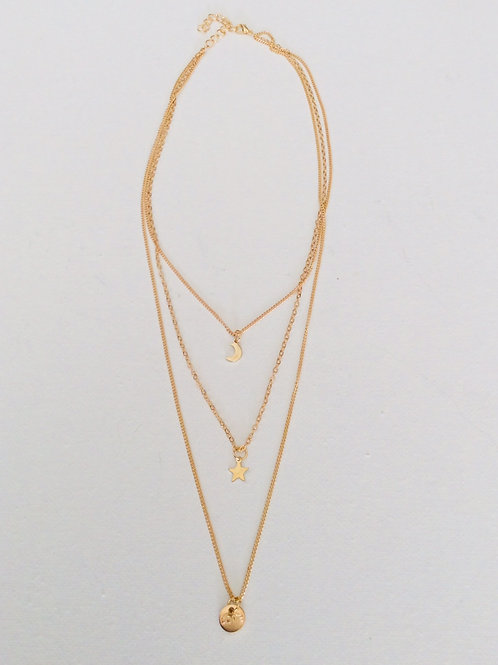 Tiered 'love' necklace