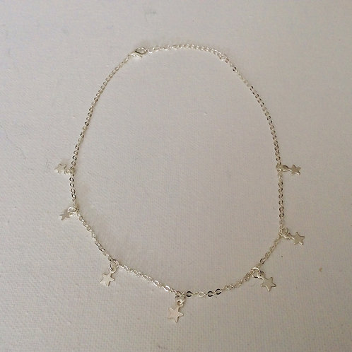 7 Star or heart choker necklace
