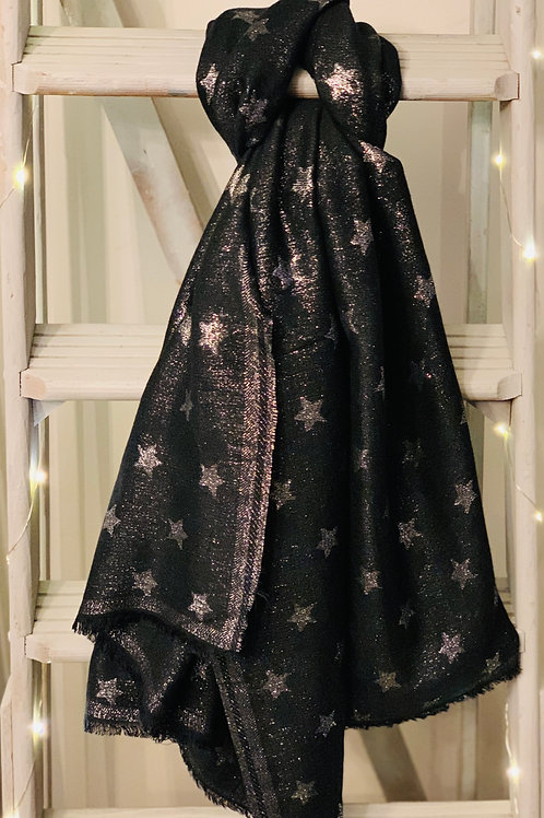 Silver stars scarf