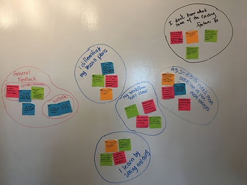 Affinity Mapping results
