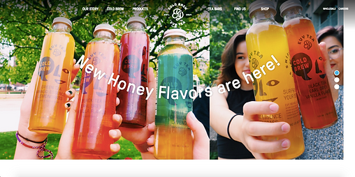 Evy Tea home page