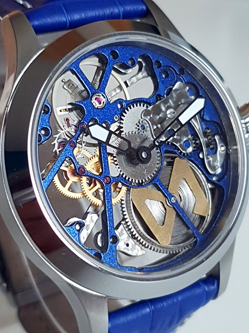 Skeleton - ETA 6497 - Blue Mouvement