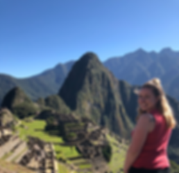 Alexis Lenderman at Macchu Picchu, Peru after studying abroad in Ecuador