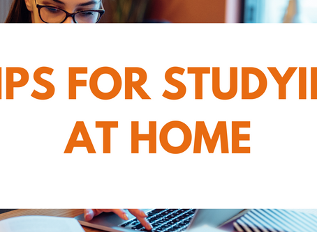 5 Tips for Studying at Home