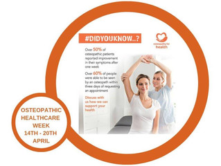 #Didyouknow? International Osteopathic Healthcare Week