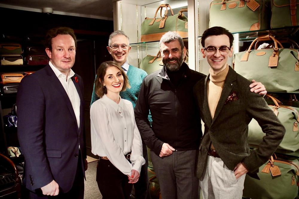 From the left: Richard Warrender, Emma Holloway, David Evans (GreyFoxBlog), Trevor Pickett, Christoph Harrington