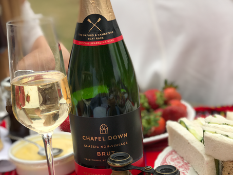 Chapel Down Brut British Sparkling Shared Amongst Friends at Polo Picnic
