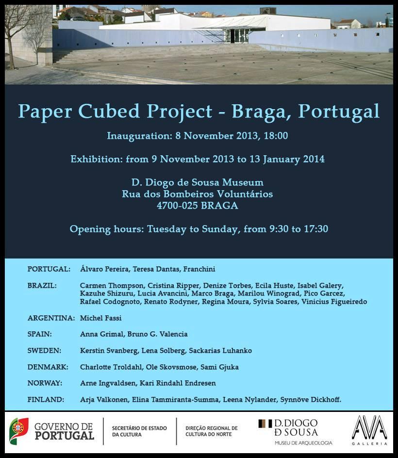 Convite Exposição Paper Cubed Project