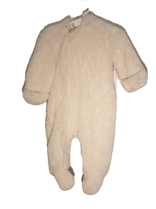 Pumpkin Patch - White Little Bear - size 6 to 12 months