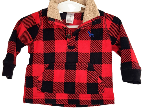 Red & Black Checkered Top - Size 6 months