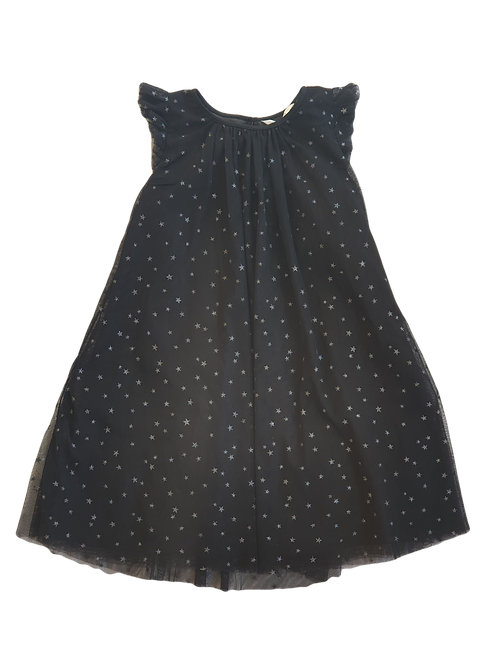 H&M Black Dress with Silver Stars - Size 10