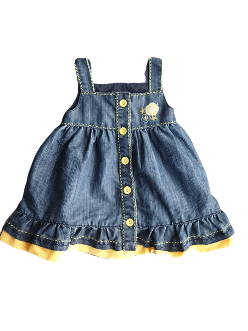 Denim Dress - Size 3 to 6 months