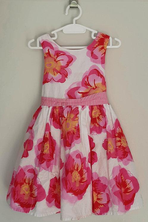 Candy Stripes Floral Dress - Size 4