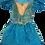 Thumbnail: Teal Princess Fancy Dress - Size 3