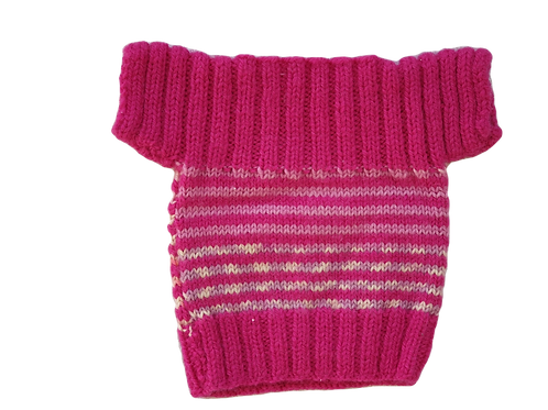 Pink Wool Knitted Layer - Size From newborn