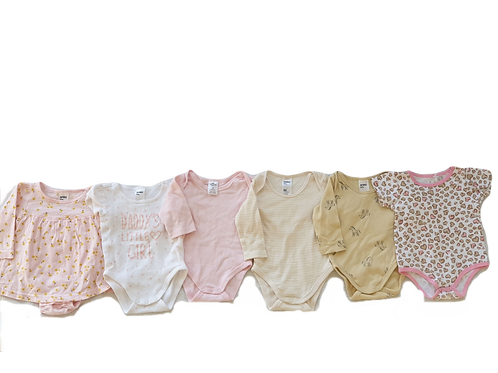 Baby bodysuit bundle - 6 items - Size 3 to 6 months