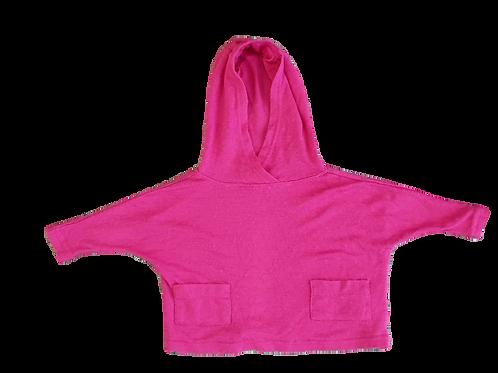 Merino Pink Poncho - Size small