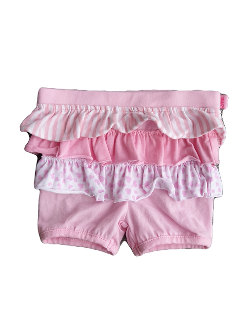 Pink Frill Shorts - Size 3 to 6 months (00)