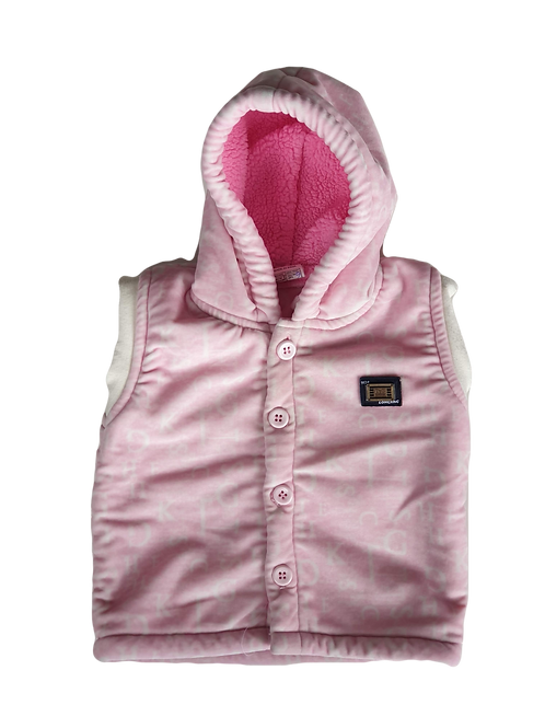 Pink Vest - Size 6 to 12 months
