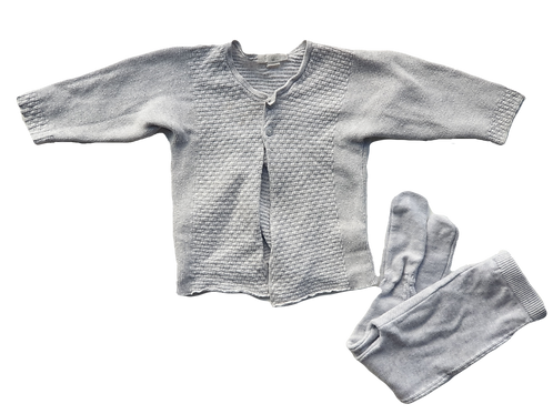 Pure Baby Top & Bottoms - 20% wool - Size 3 to 6 months