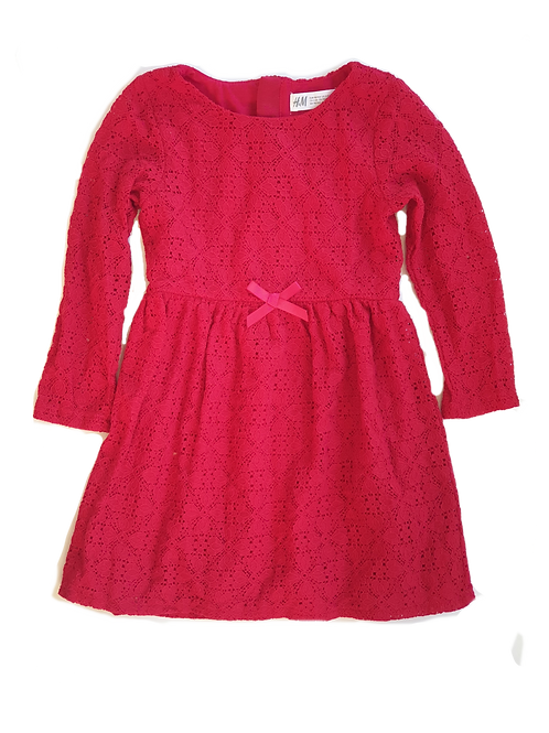 H&M Red Dress - Size 3 to 4 years