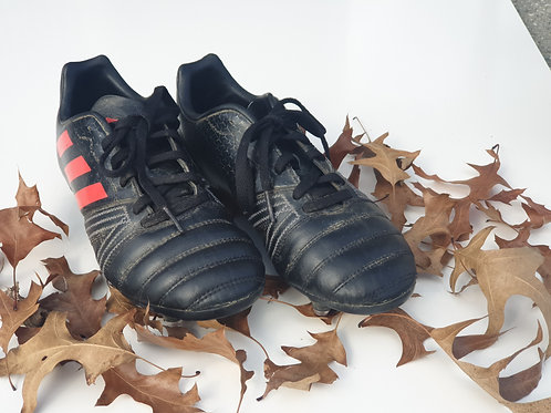 Adidas Kids All Black SG Rugby Boots - Size UK 3.5