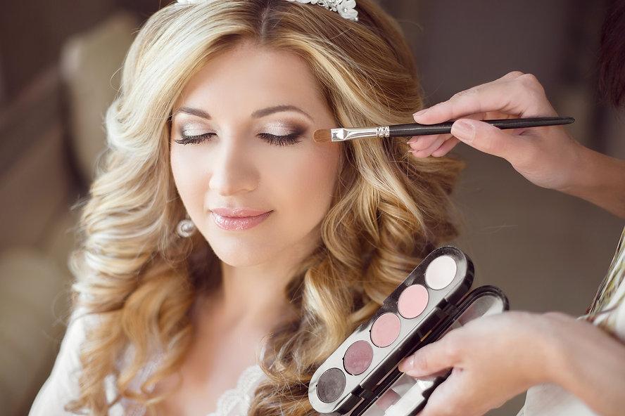 Beautiful Bride Girl With Wedding Makeup