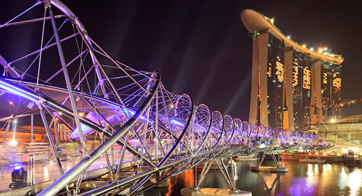 Official Opening of Helix Bridge - Lighting Programmer