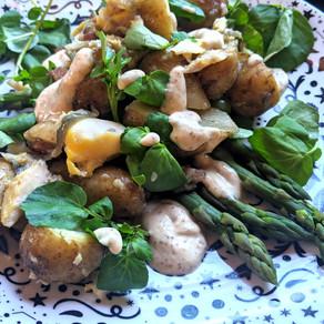 Smoked Haddock & Asparagus Potato Salad