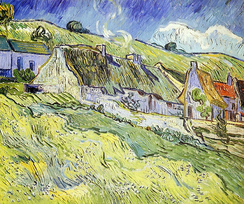 """A group of cottages"" by Van Gogh"