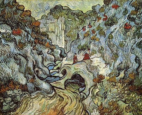 """A path through a ravine"" by Van Gogh"