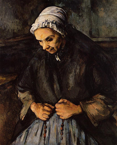 Cezanne_An Old Woman with a Rosary