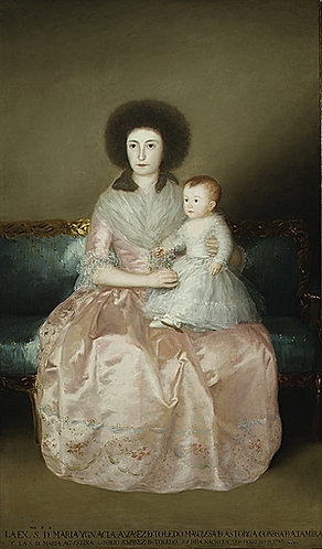 Goya_Condesa de Altamira and Her Daughter, Maria Agustina