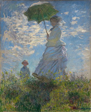 """Woman with a Parasol - Madame Monet and her son by Monet"