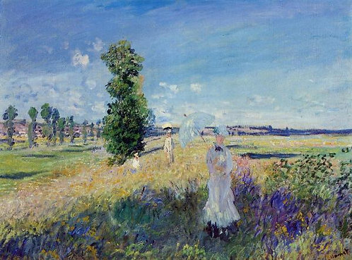 """The Walk (Argenteuil)"" by Monet"