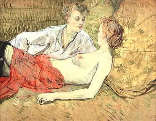 Toulouse-Lautrec_The Two Girlfriends