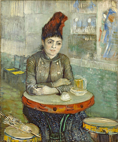 """Agostina Sagatori Sitting in the Cafe du Tamborin"" by Van Gogh"