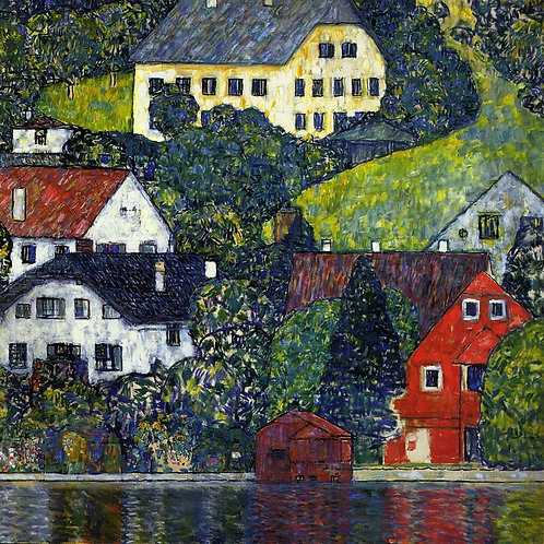 """Houses at Unterach at the Attersee"" by Klimt"